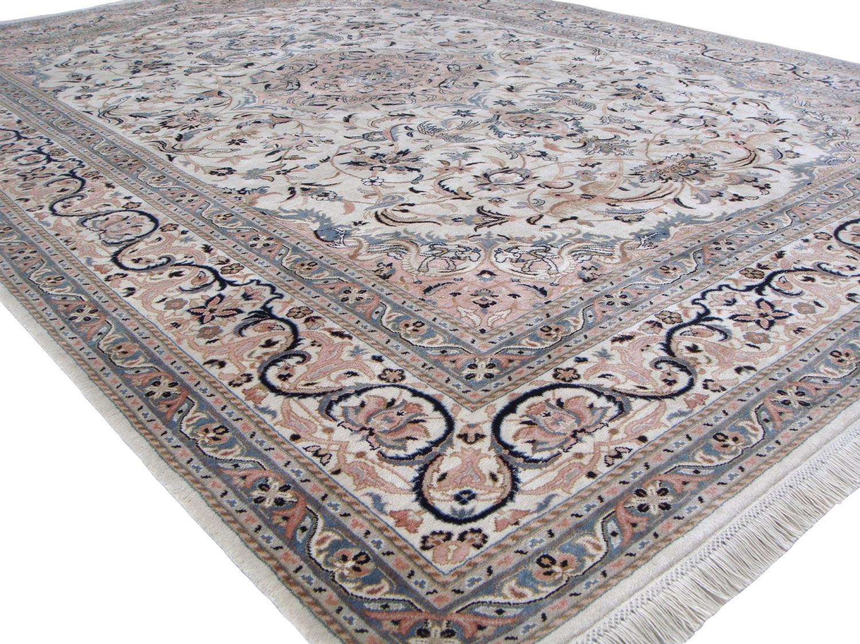 Nain 20thC design 100% silk carpet