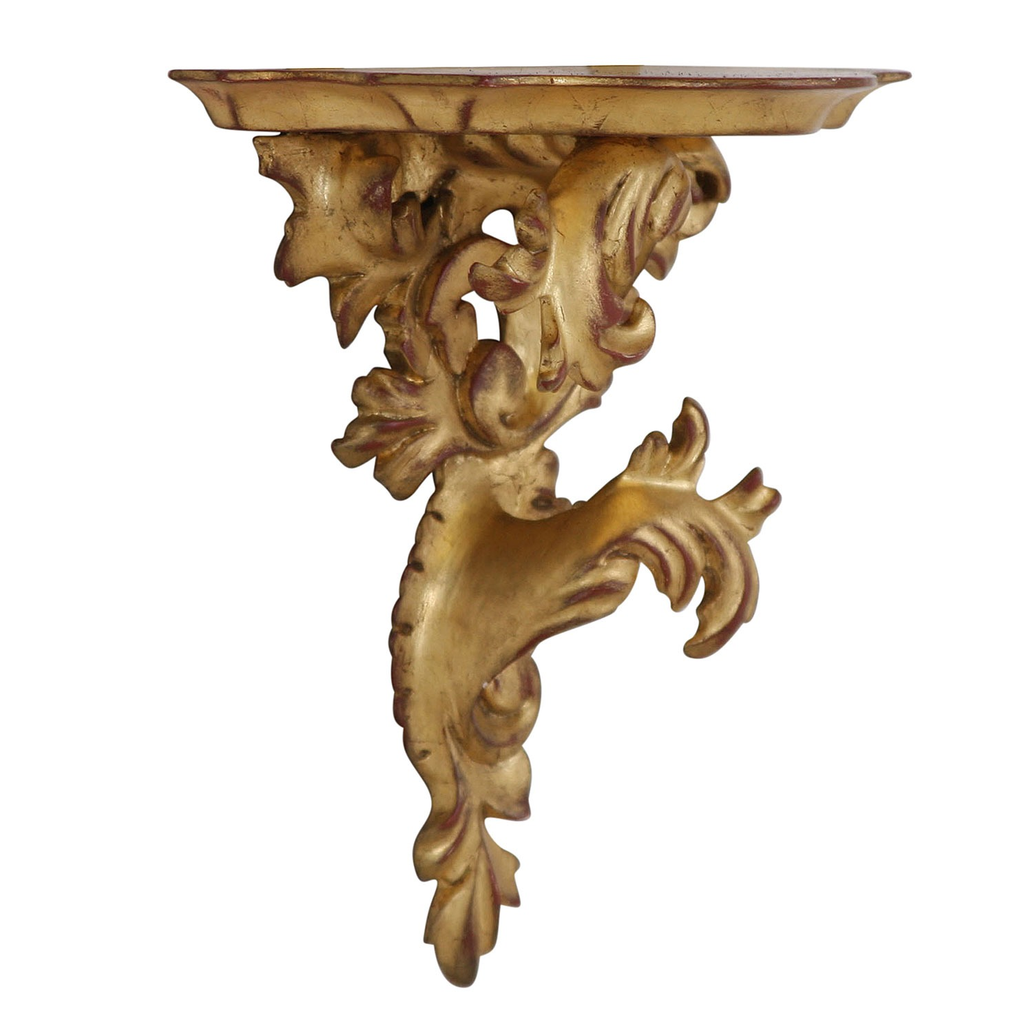Giltwood wall bracket - small, left facing