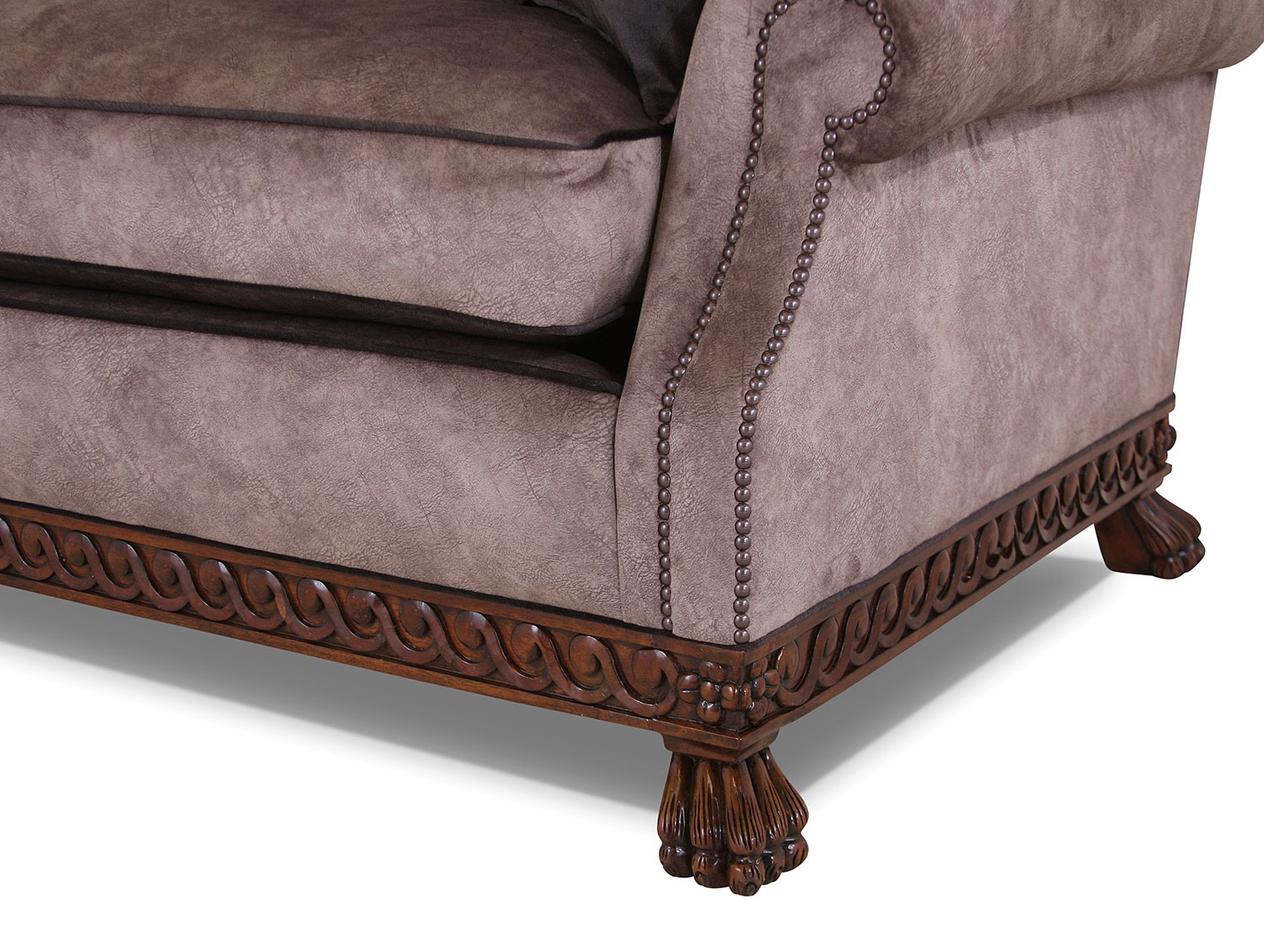 Dartington full back sofa in Walbrook Taupe