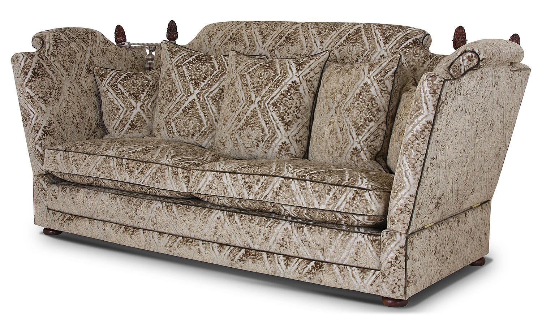 Elizabethan Knole 3 seat sofa in Wemyss Attica