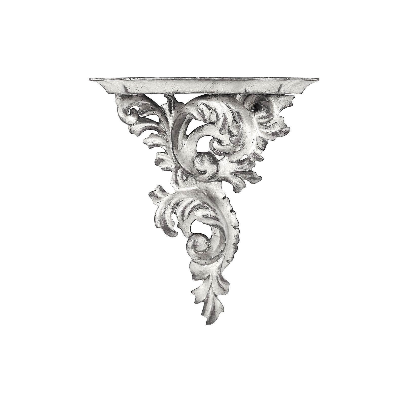 Silver leaf wall bracket - small, right facing