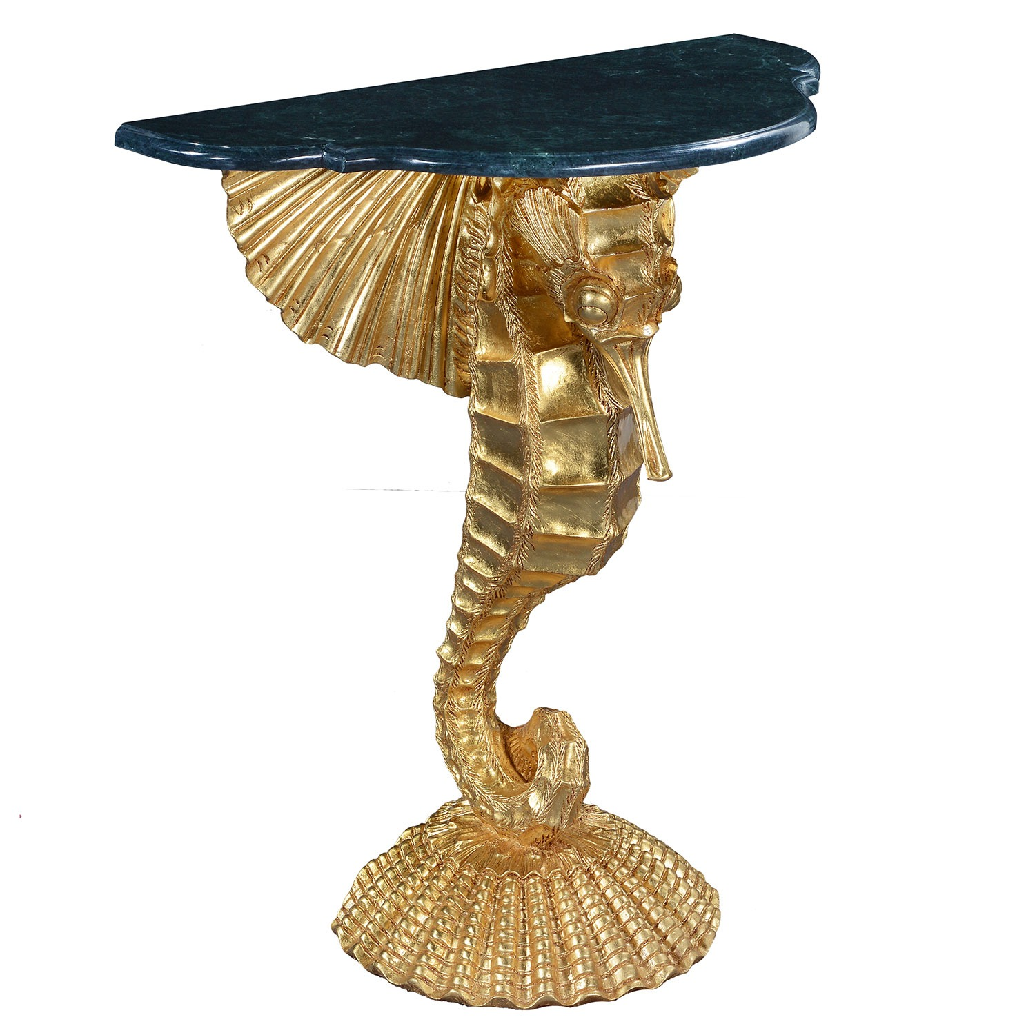 Seahorse console hall table - gold