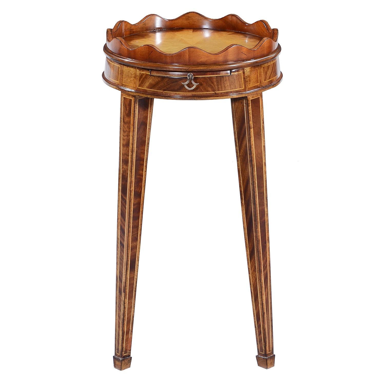 Mahogany wine table - 14in top