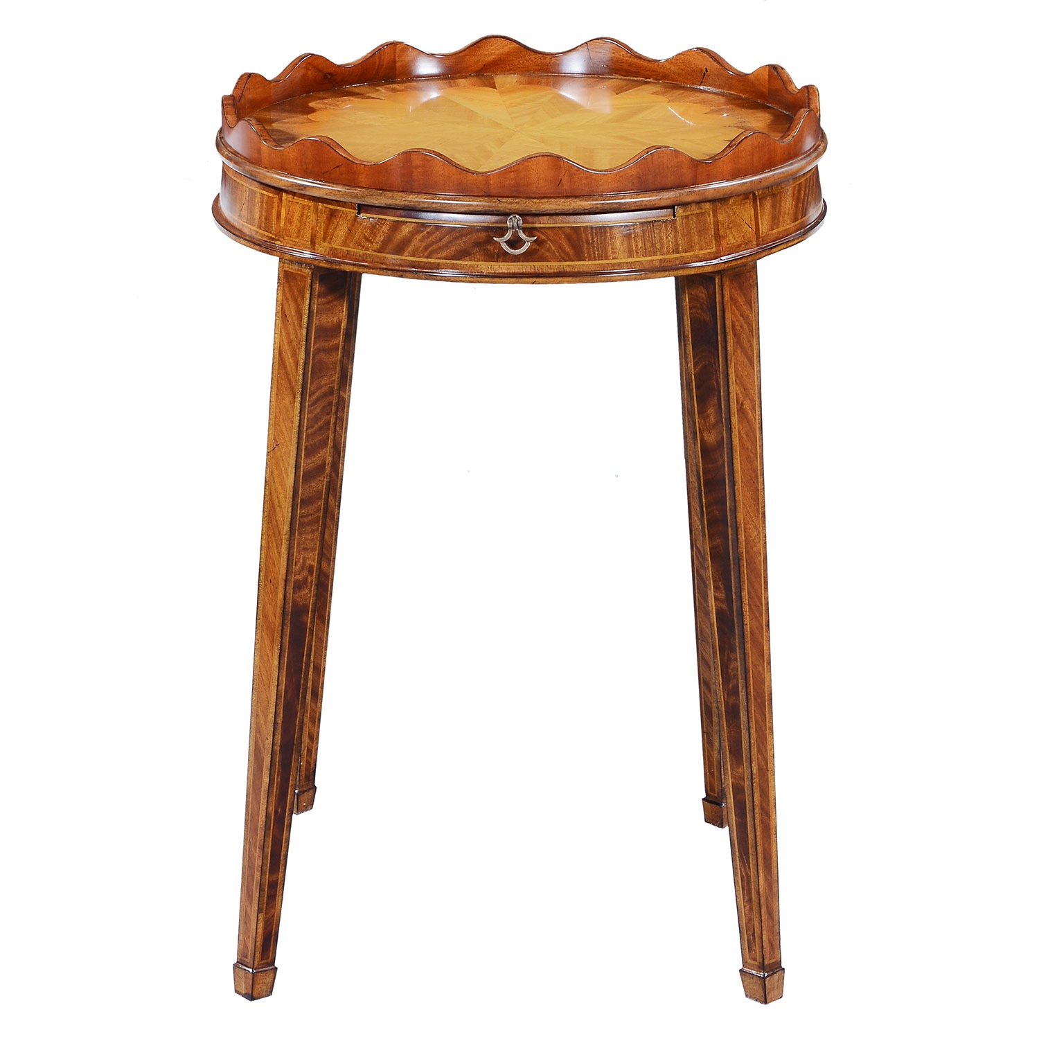Mahogany wine table - 20in top