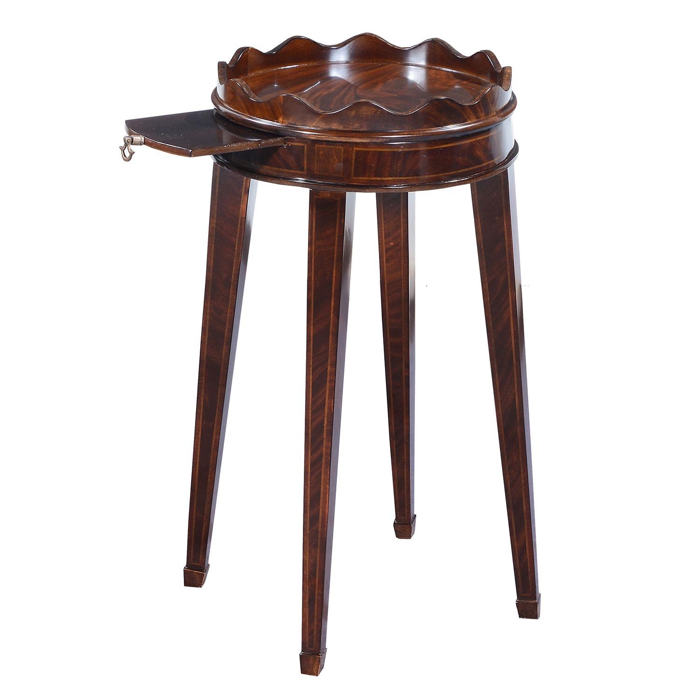 Ebonised mahogany wine table - 14in top