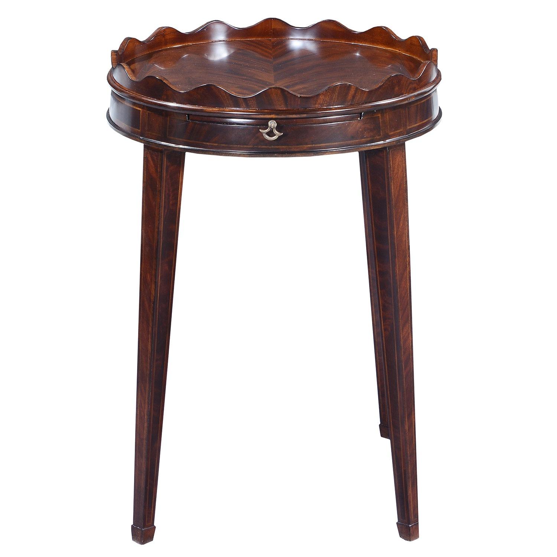 Ebonised mahogany wine table - 20in top
