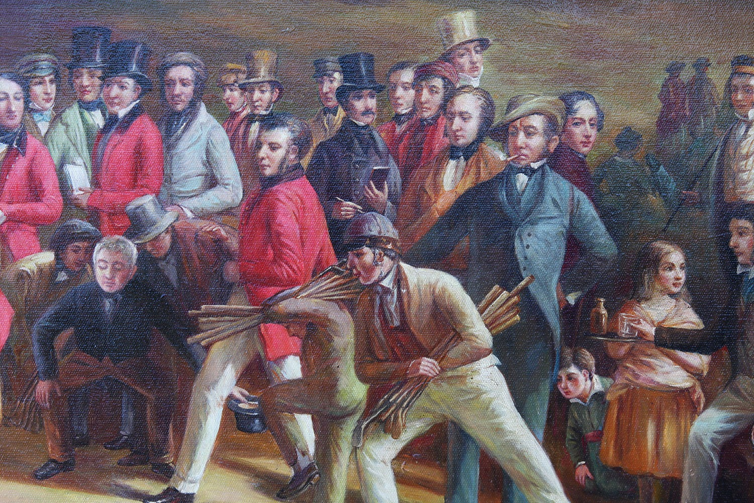 The Golfers, oil Painting After Charles Lees