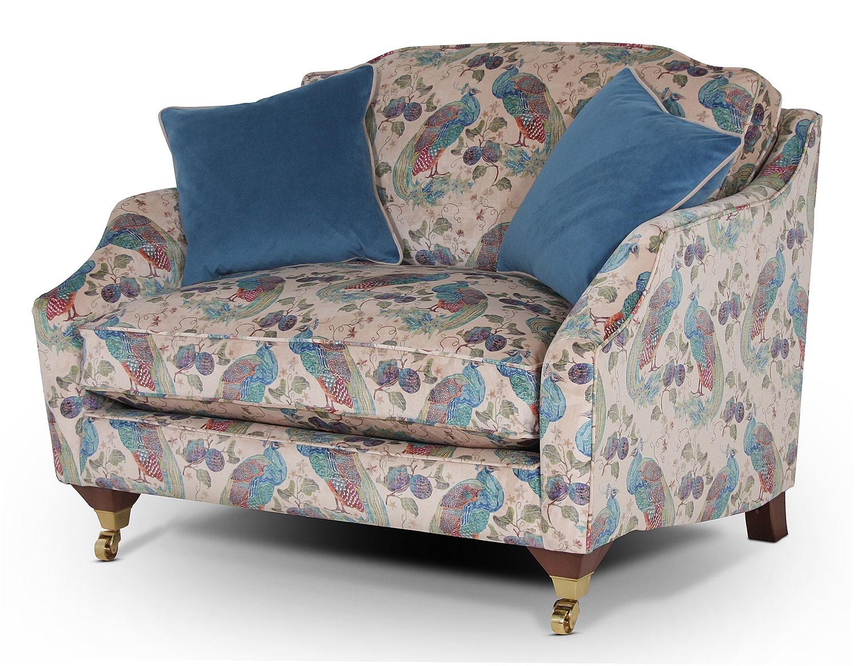 Marlow snuggle chair in Utopia Peacock