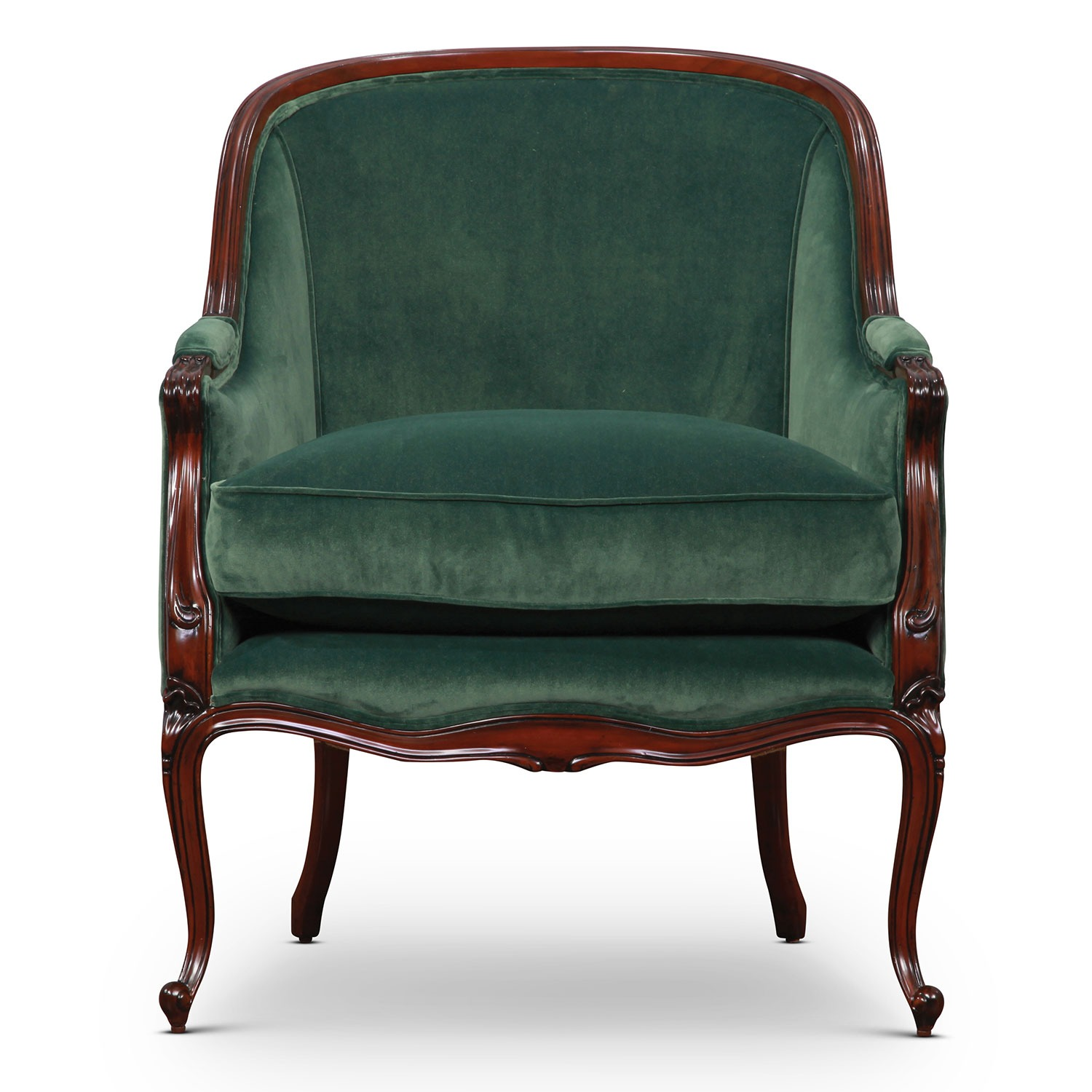 Mahogany Hepplewhite tub accent chair