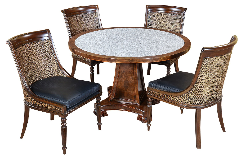 Robert Adam style round dining table