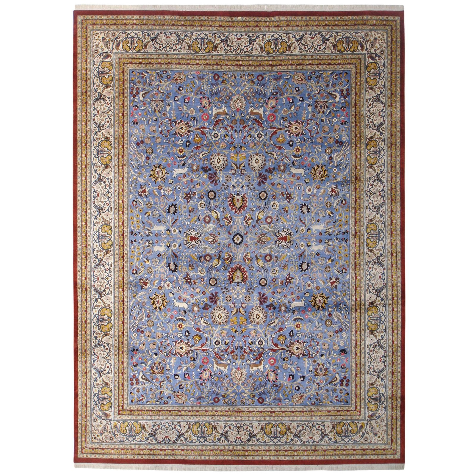 Tehran design silk carpet