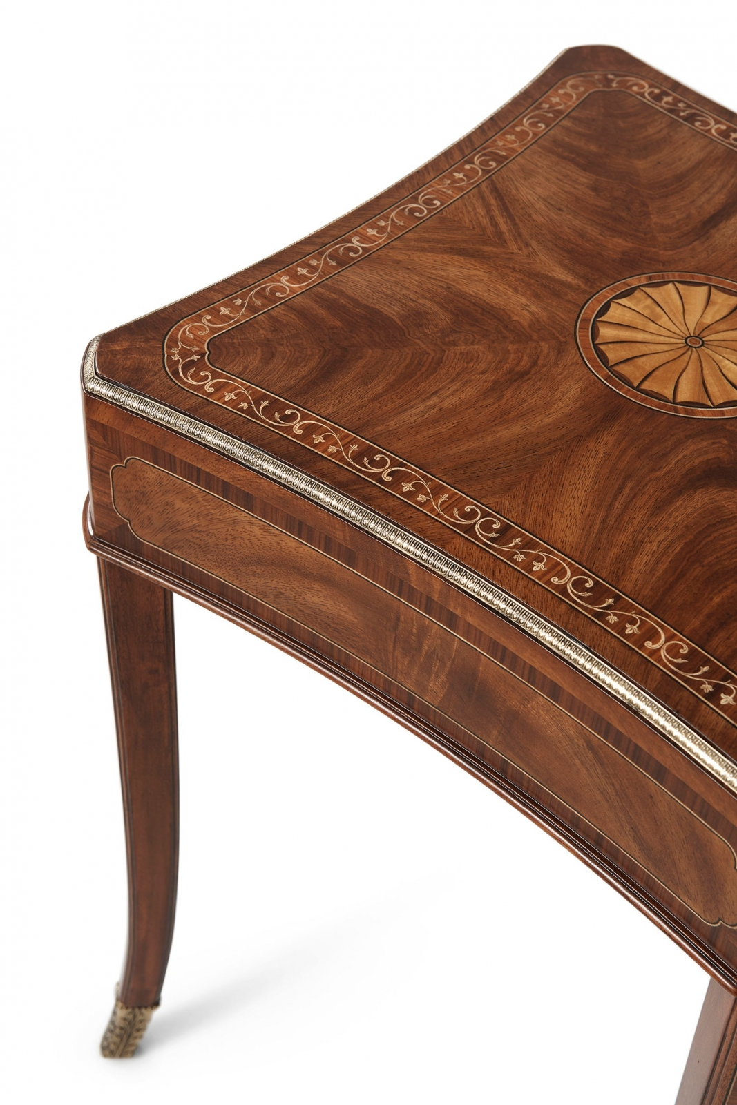 Marquetry inlay accent side table