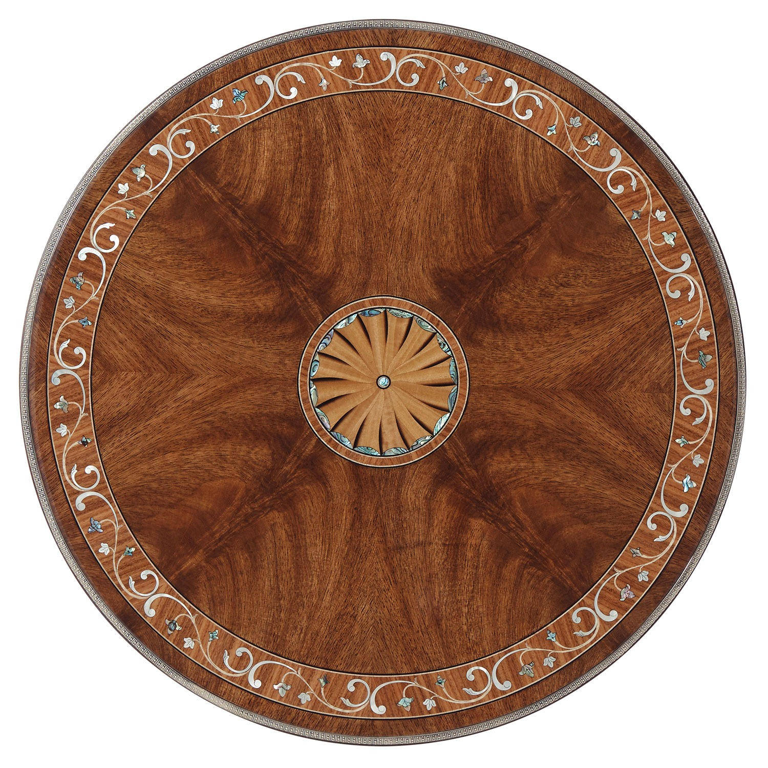 Late Georgian Inspired Marquetry inlay round side table