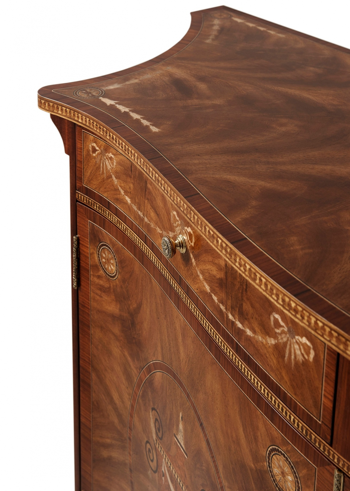 Neoclassical Style Chest with Fine Marquetry Detail