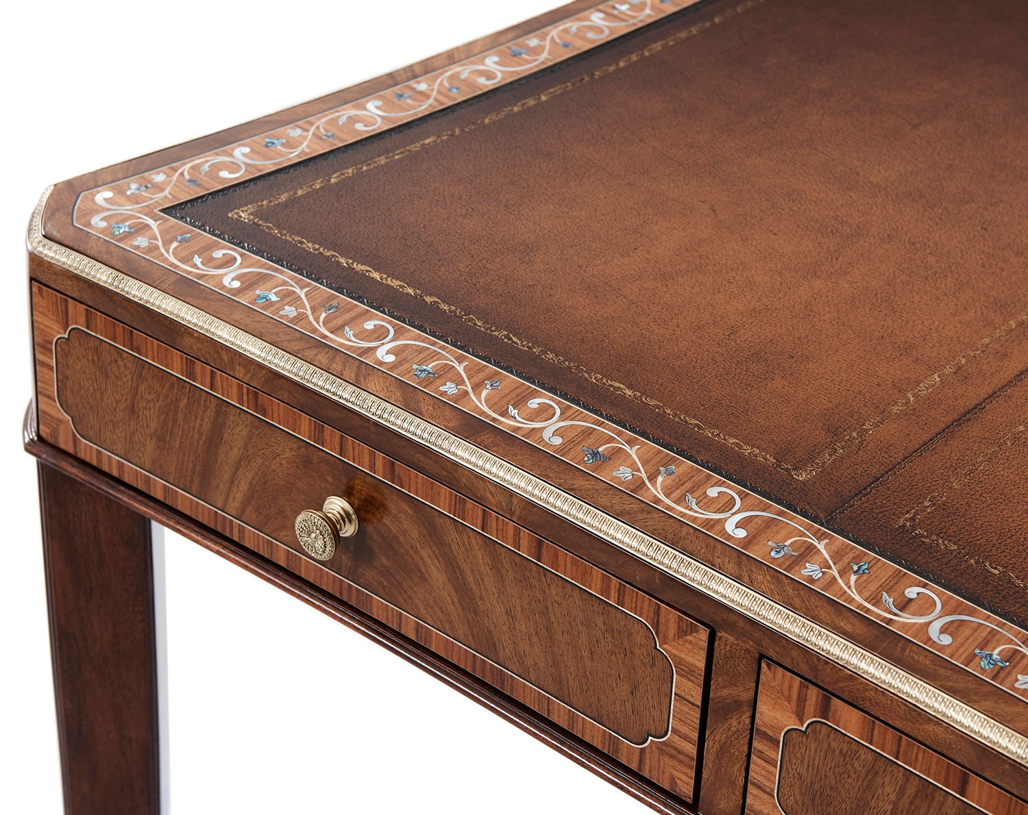 Marquetry Inlay Writing Table or Desk
