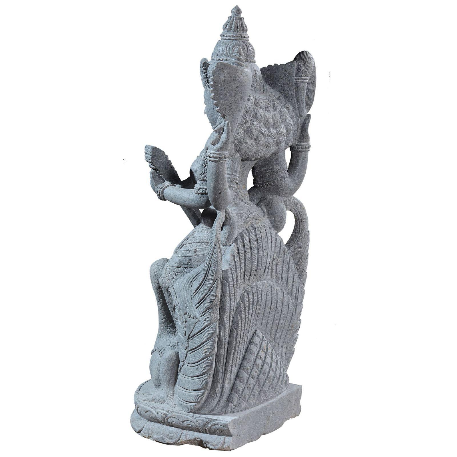 Garden stone statue of hindu goddess Saraswati