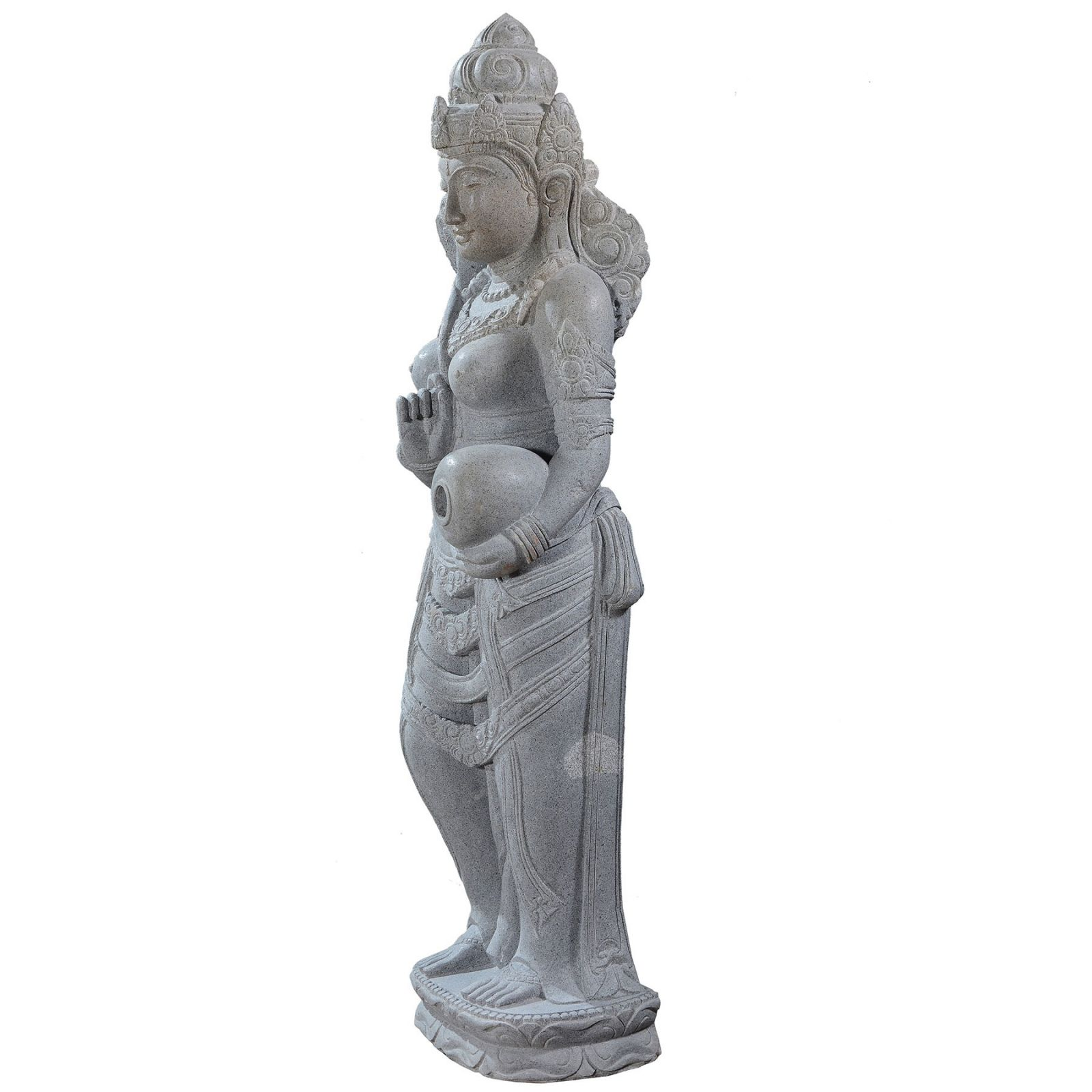 Large garden Stone statue of standing Dewi Sri - Goddess of the earth