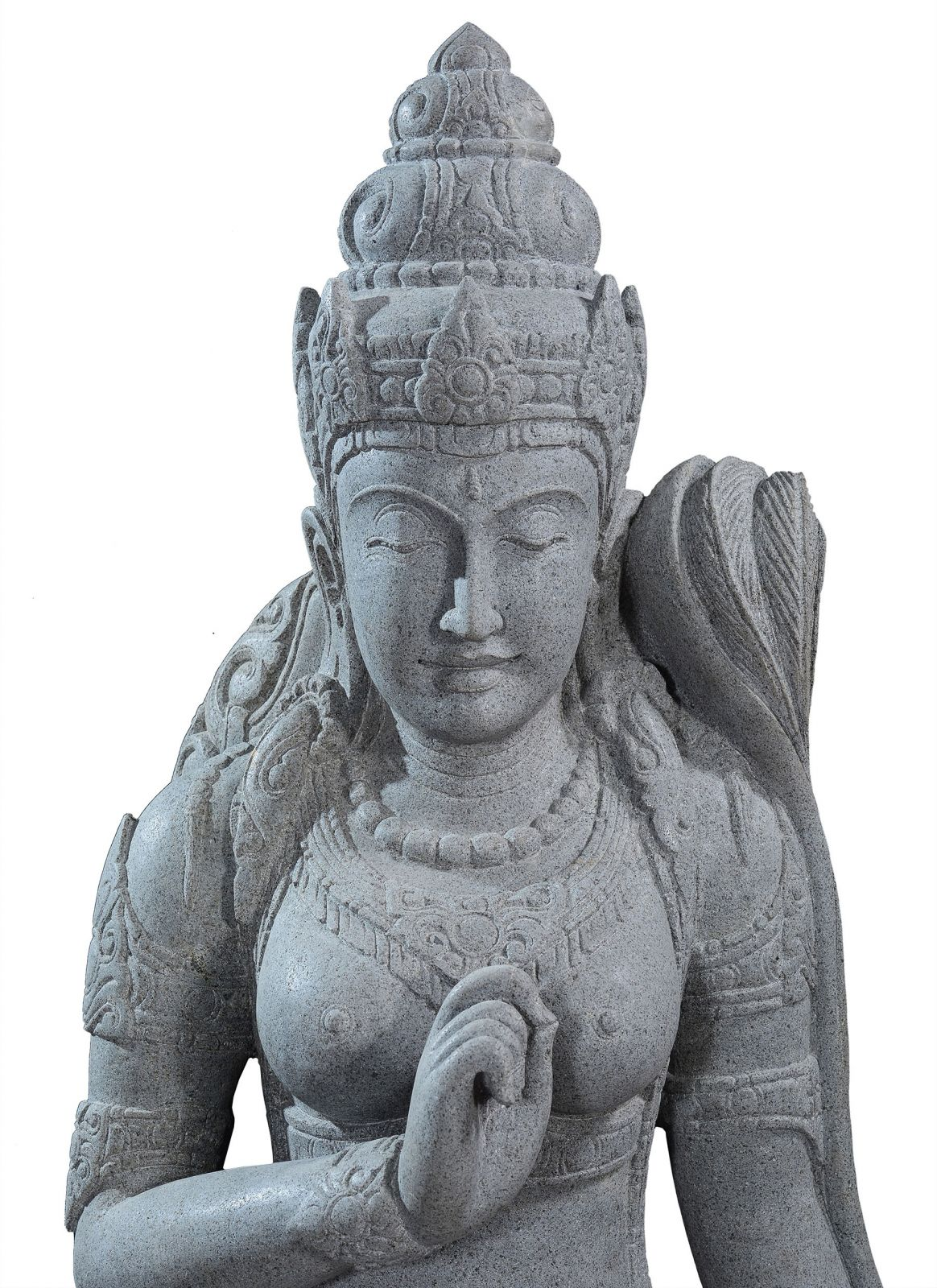 Large garden Stone statue of sitting Dewi Sri - Goddess of the earth