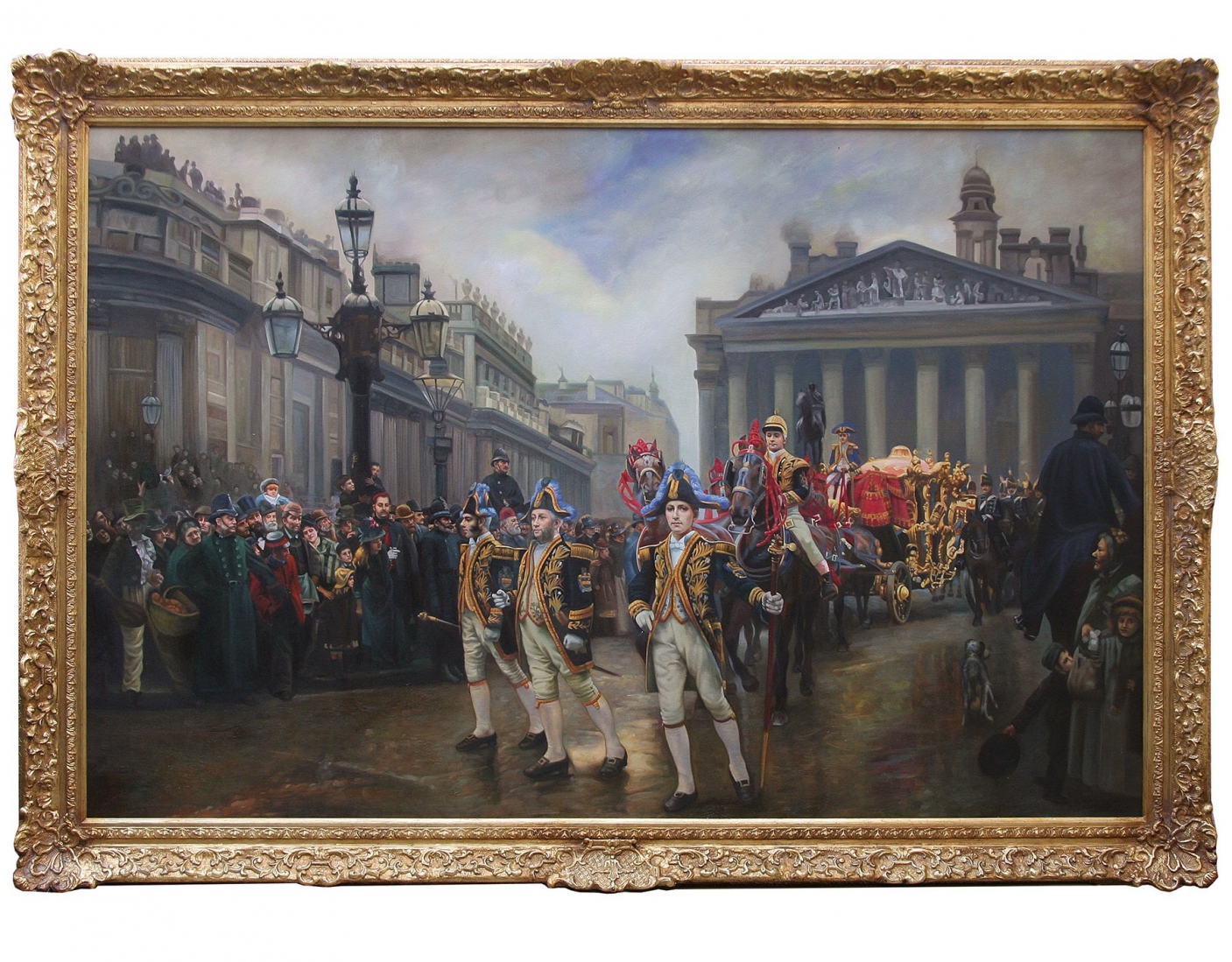 The Ninth Of November 1888, victorian style oil painting after William Logsdail