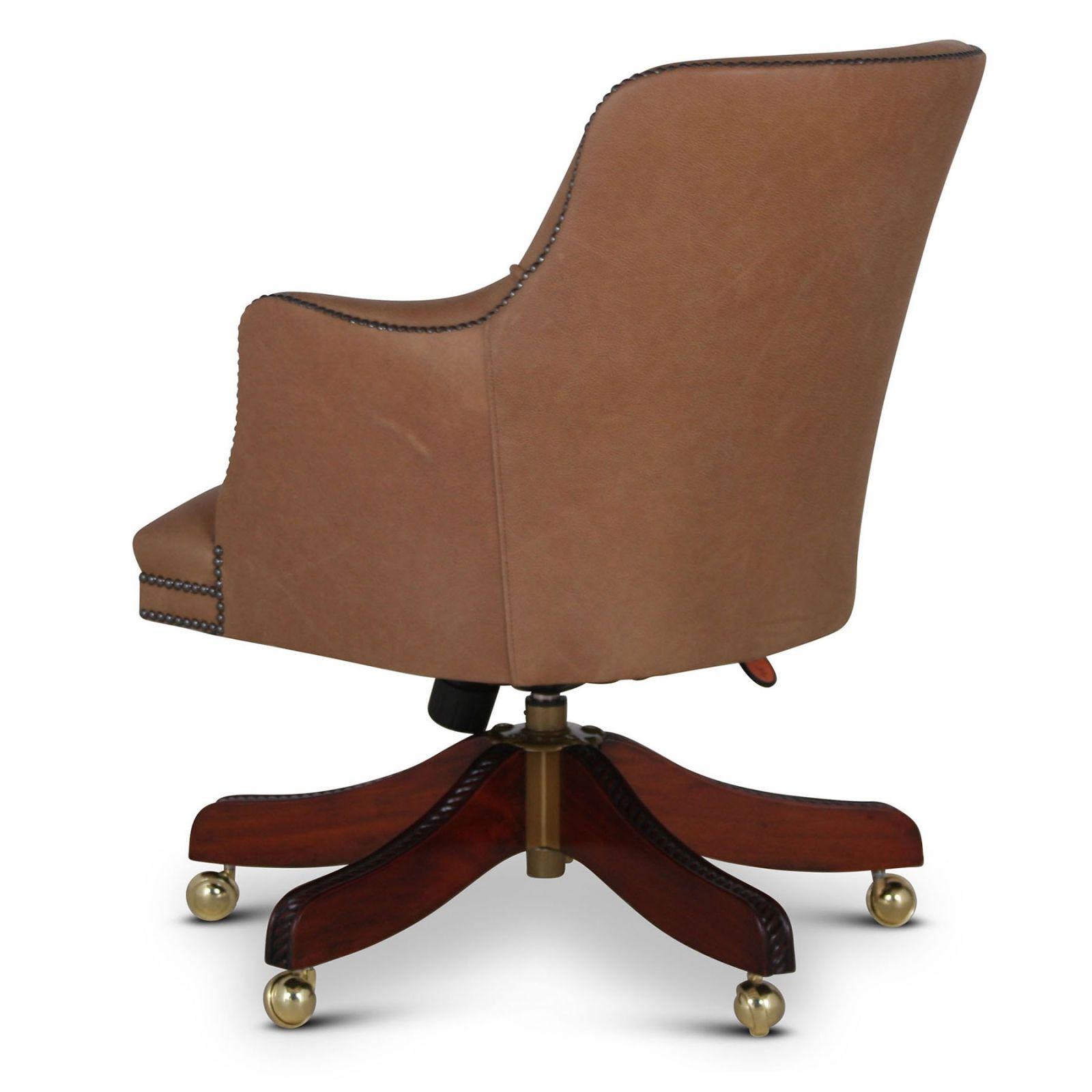 Bosuns Stone leather swivel desk chair
