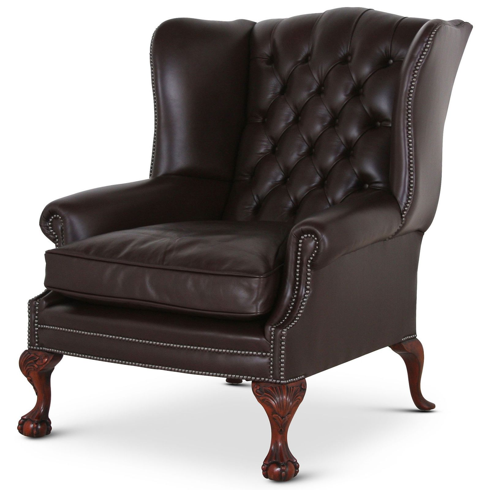 Coleridge Grande traditional leather wing chair