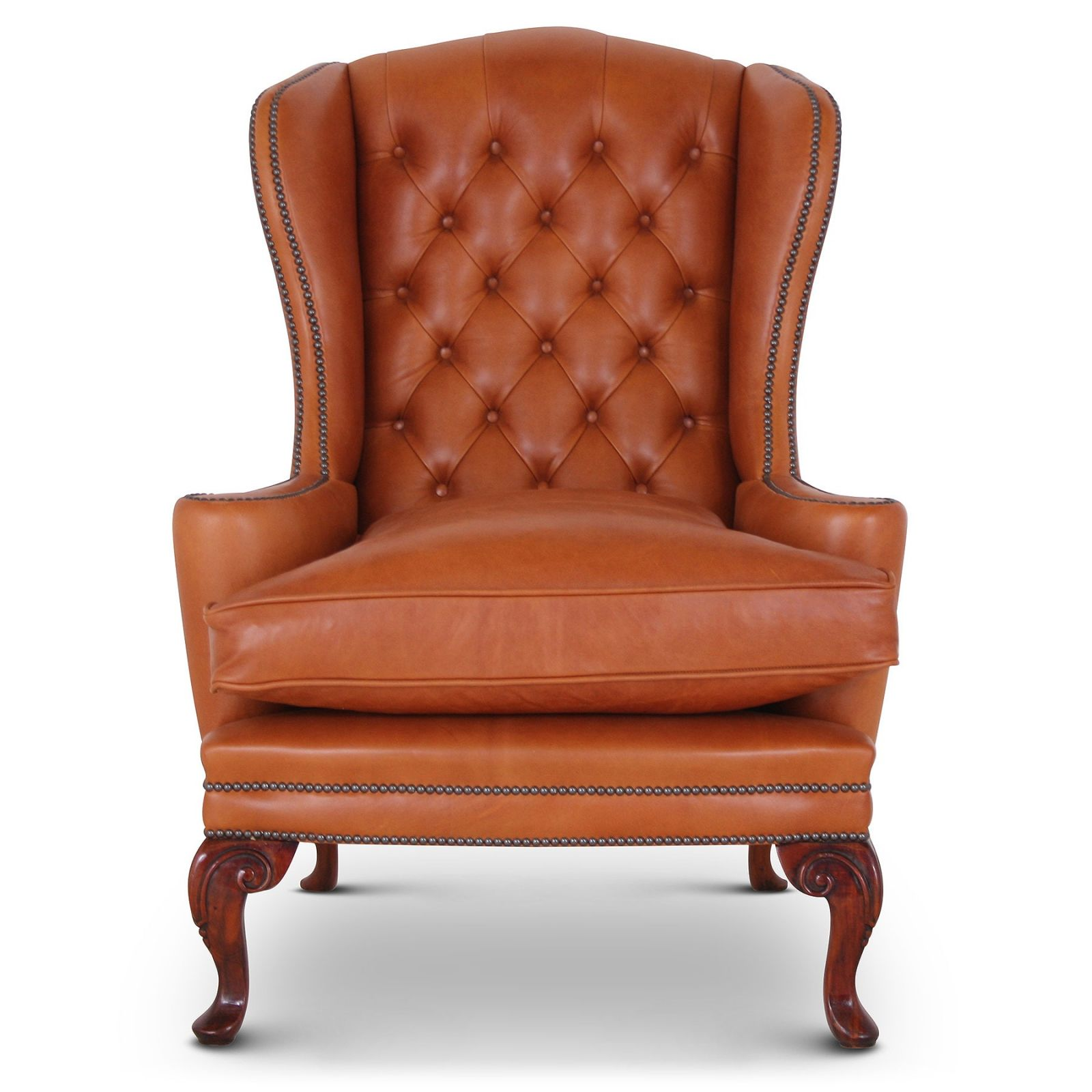 Melbury Tan Leather Wing Chair