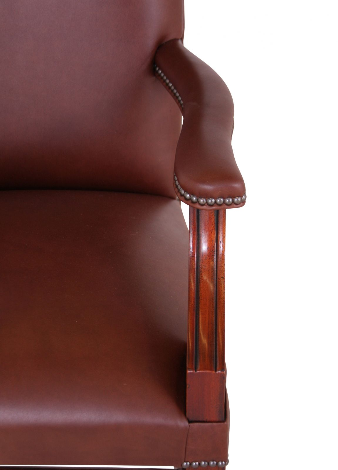 Leather Cathedral dining arm chair