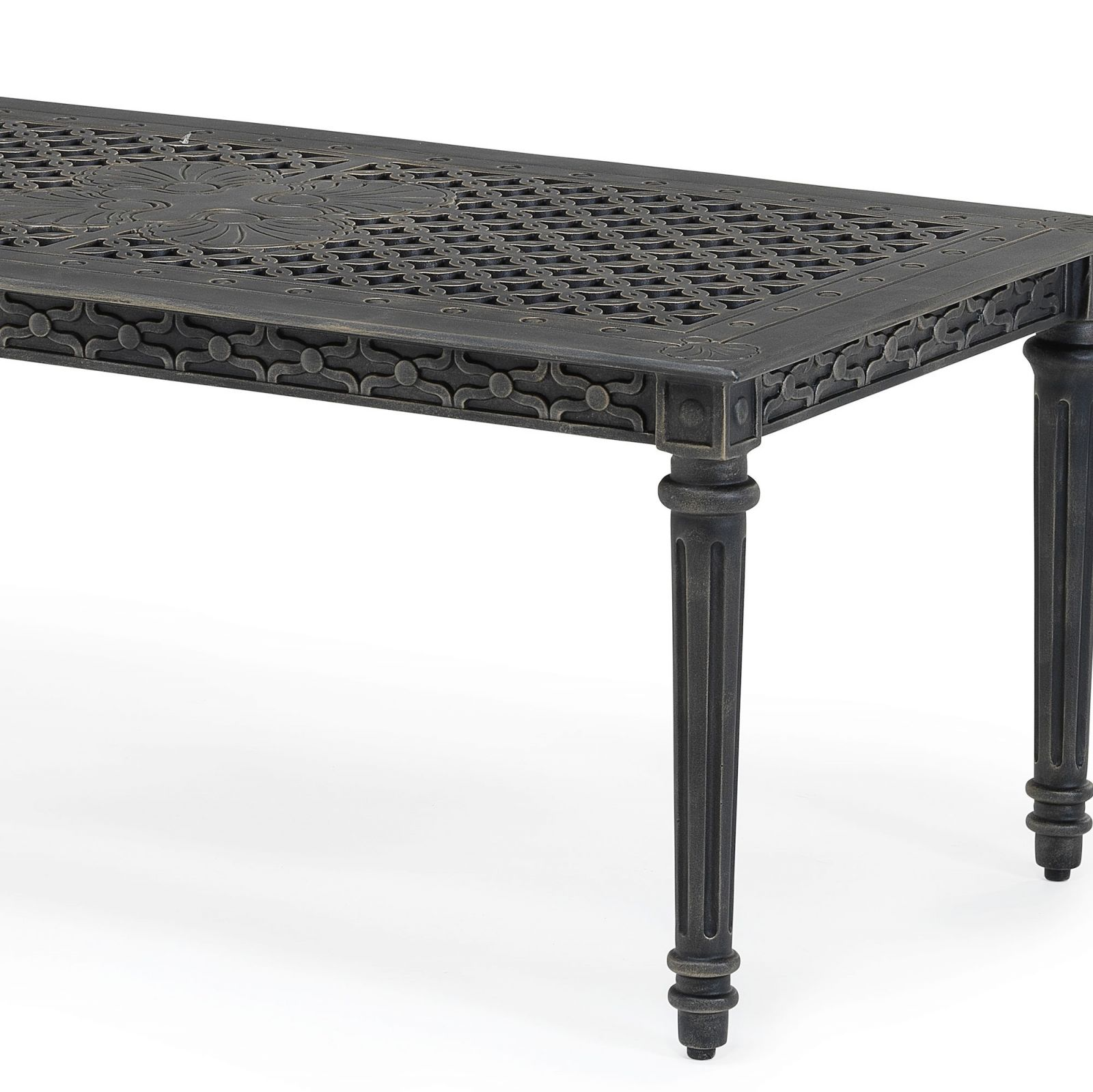 Grande metal outdoor coffee table