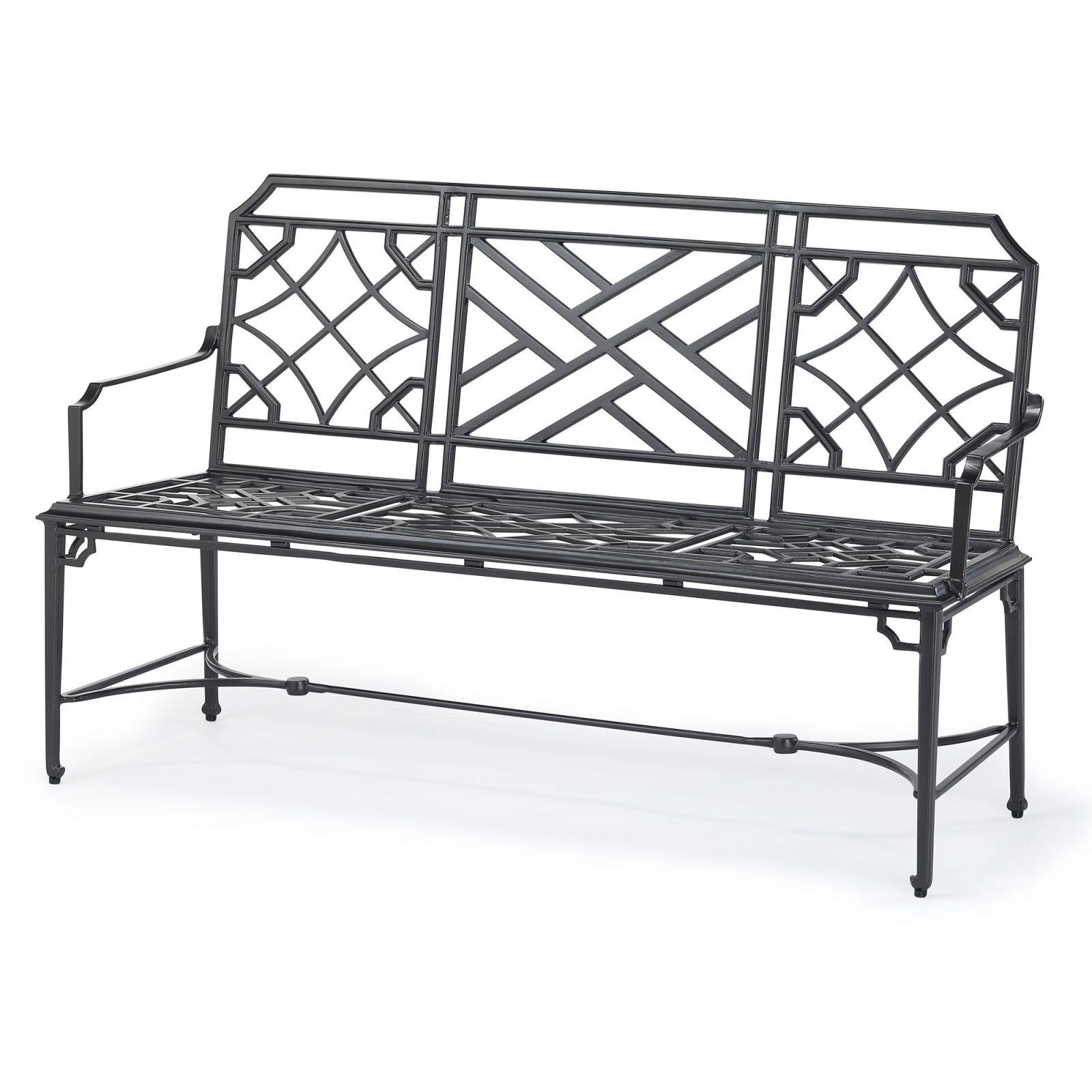 Rissington metal garden bench