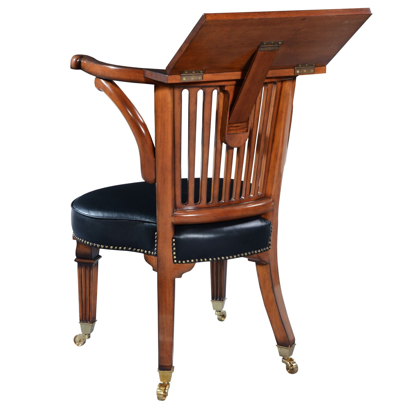 18th Century style mahogany reading chair