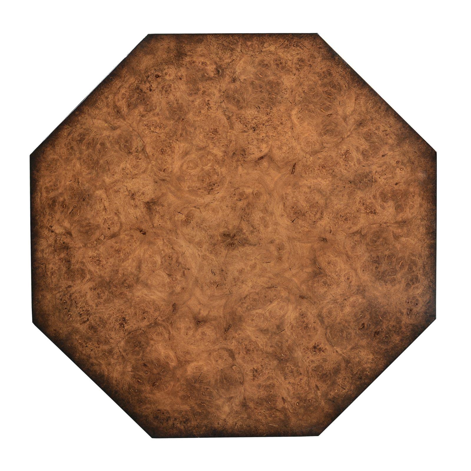 Octagonal wine table - Burr oak