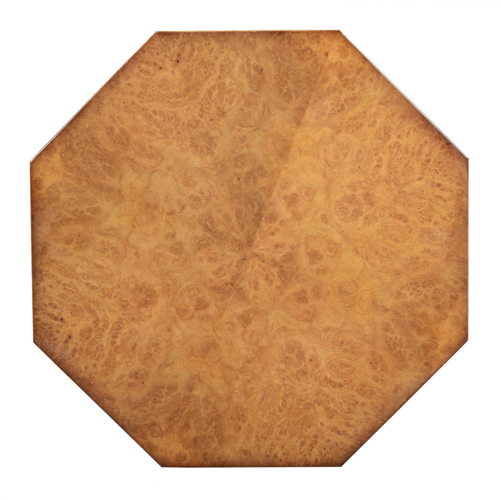 Octagonal wine table - Honey burr oak