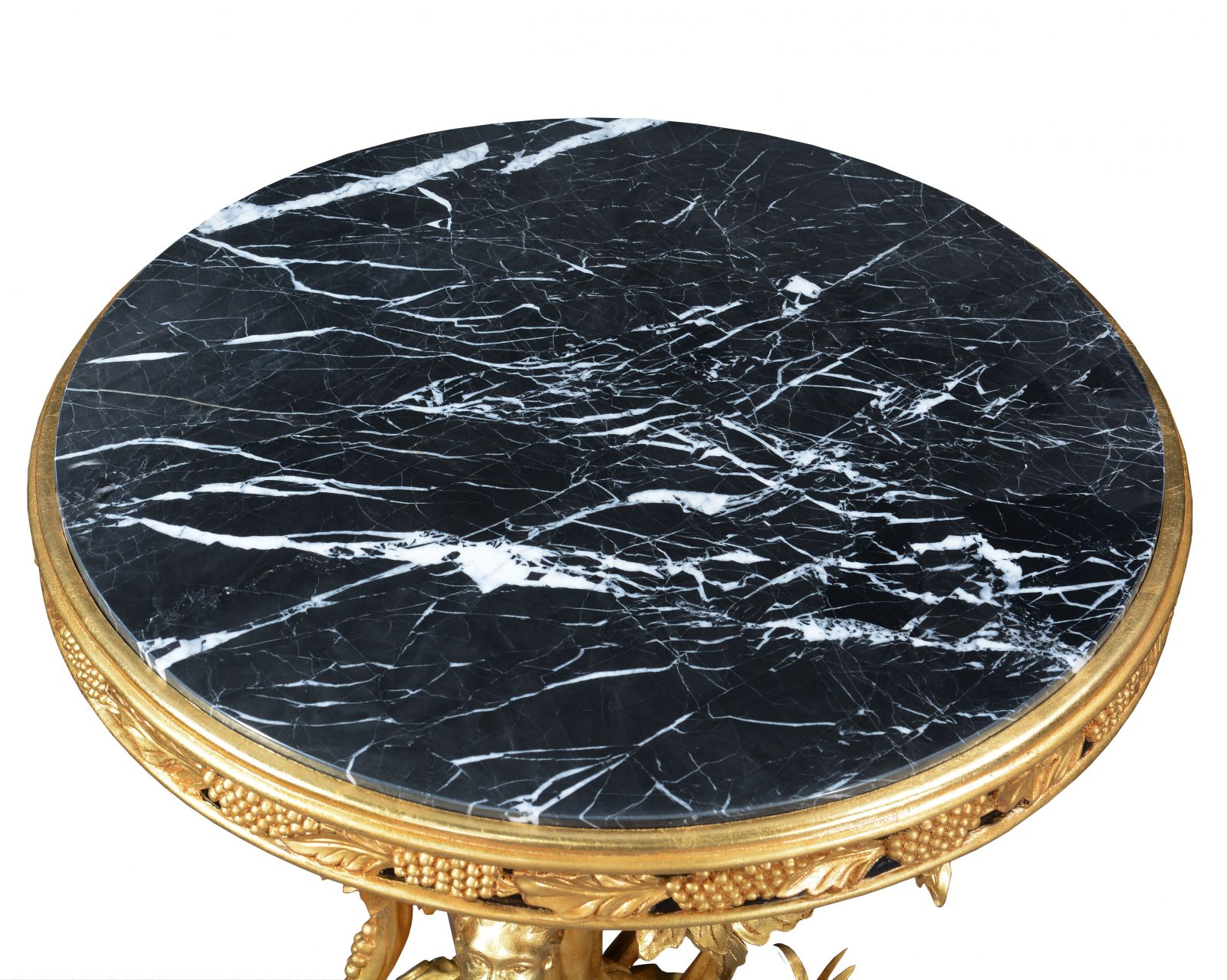Italian style grapevine centre table - Gold leaf