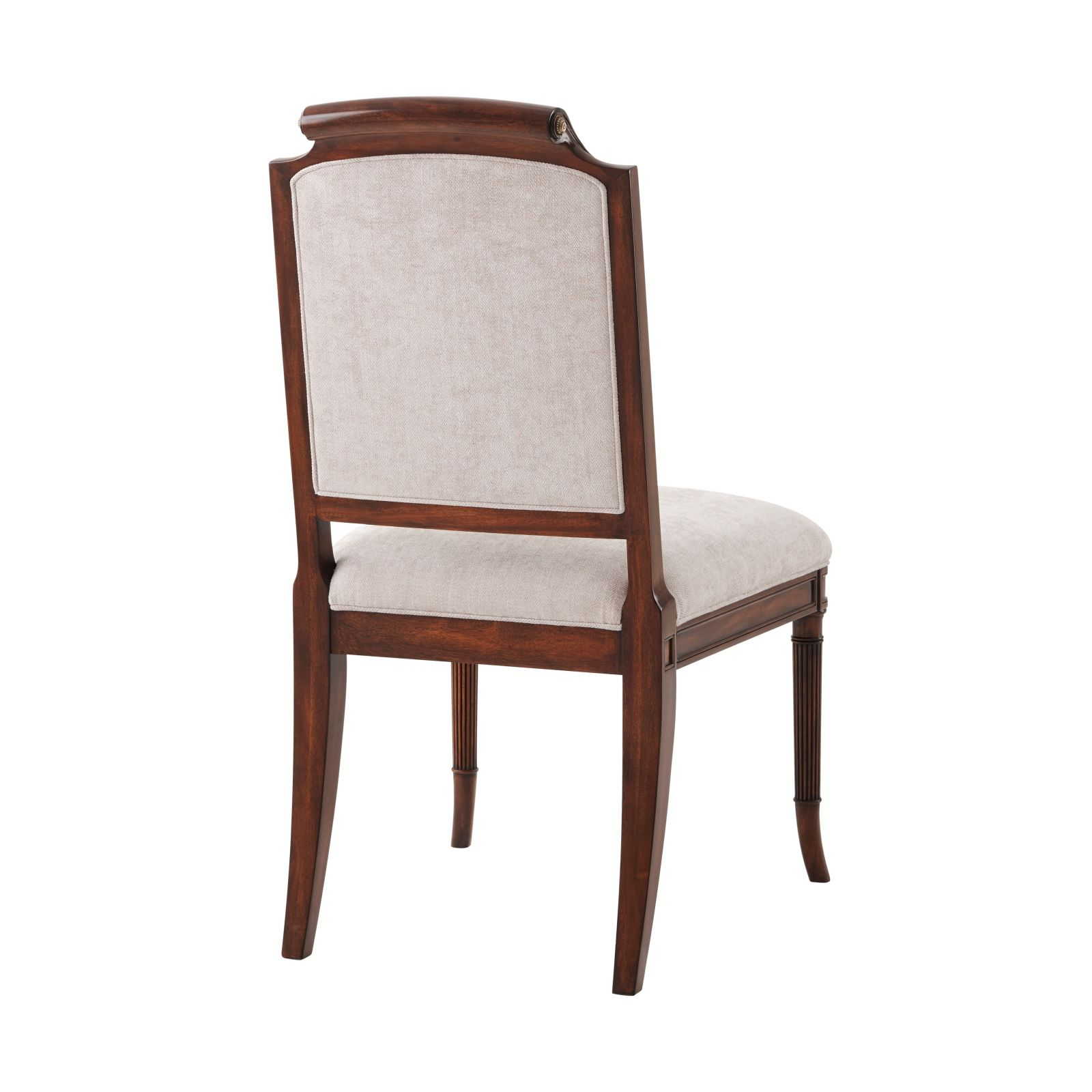 A finely carved mahogany dining chair