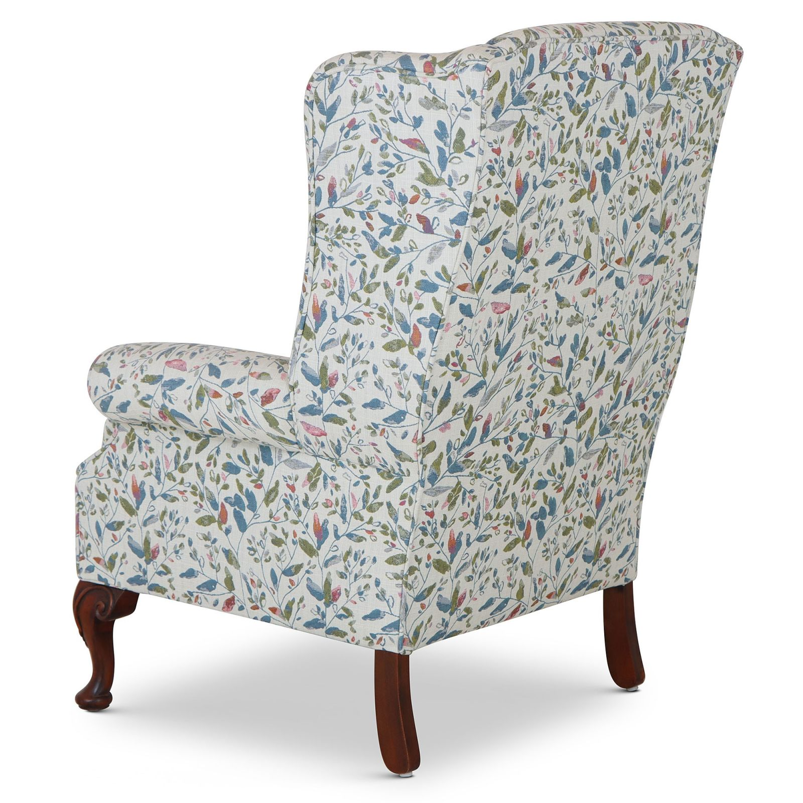 Blandford wing chair in floral fabric