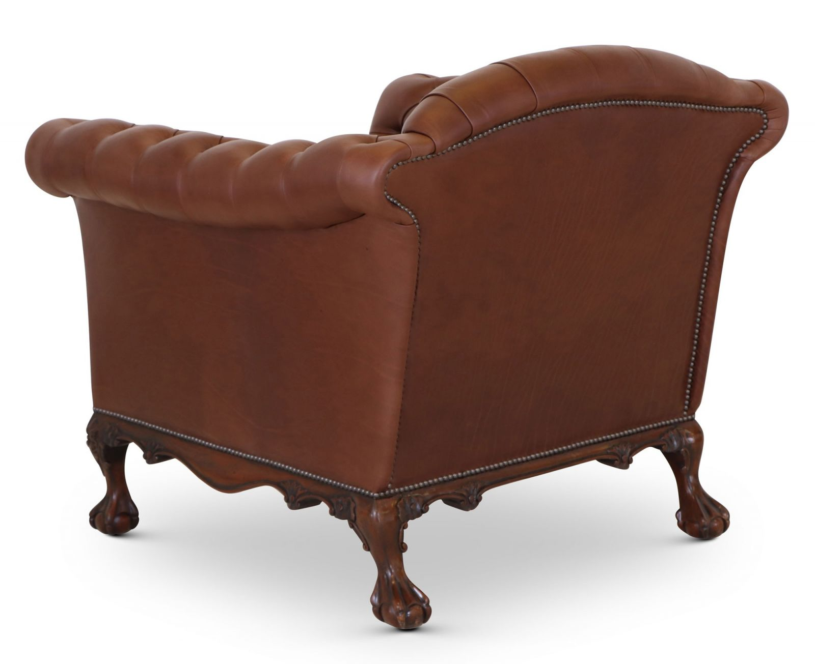 Dryden traditional buttoned arm chair