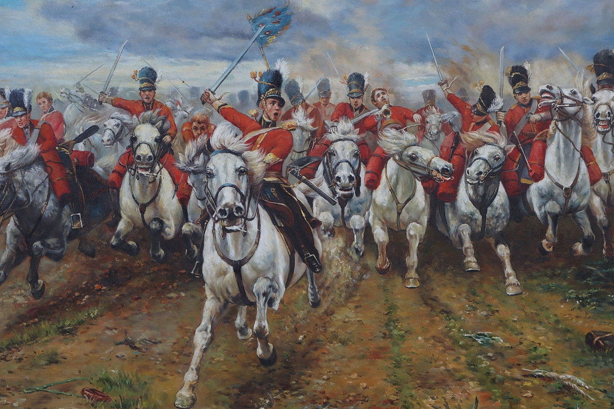Oil Painting after 'Scotland Forever!' by Lady Butler