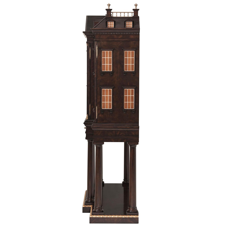 Mahogany Architectural Bar Cabinet