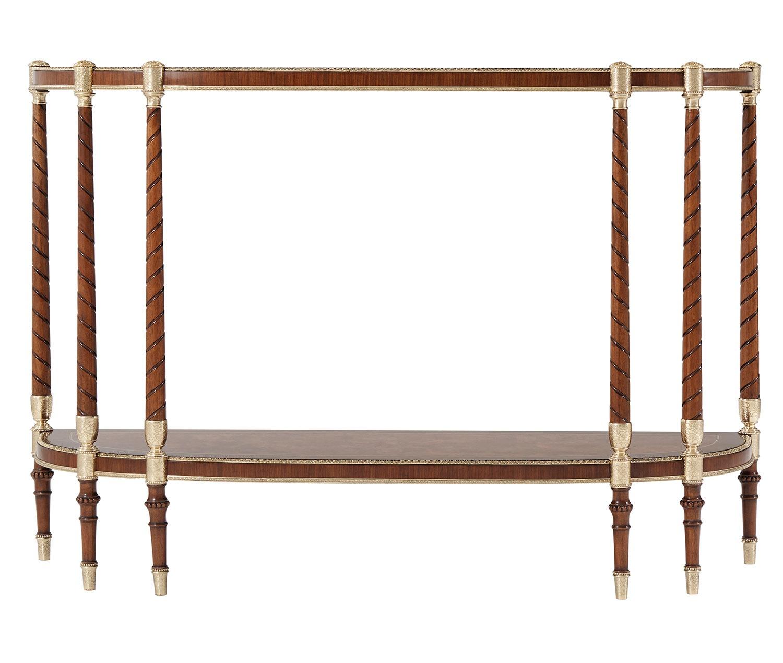 Gold Morado Banded Console Table