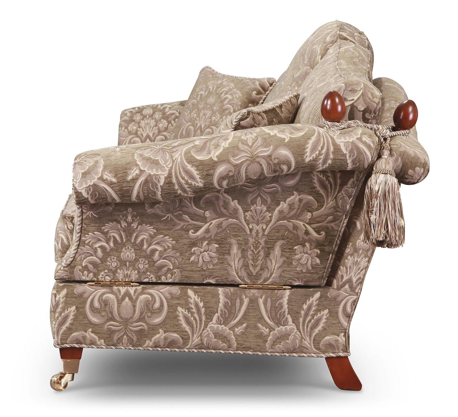 Renoir Knole 3 seat sofa in grey-green chenille
