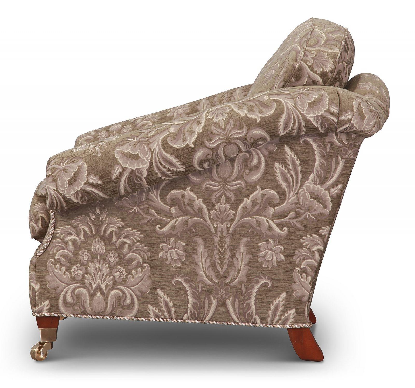Renoir chair in grey-green chenille