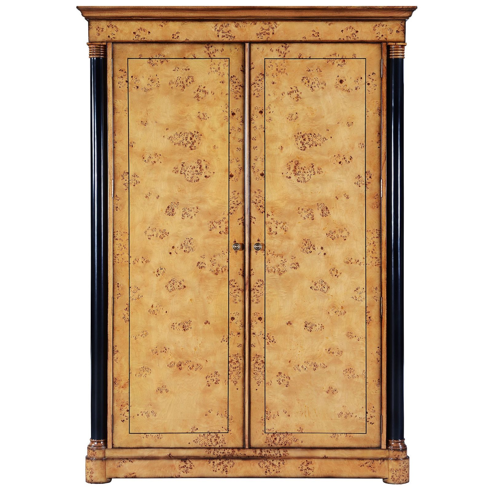 Empire style burr oak wardrobe in Mappa Burl