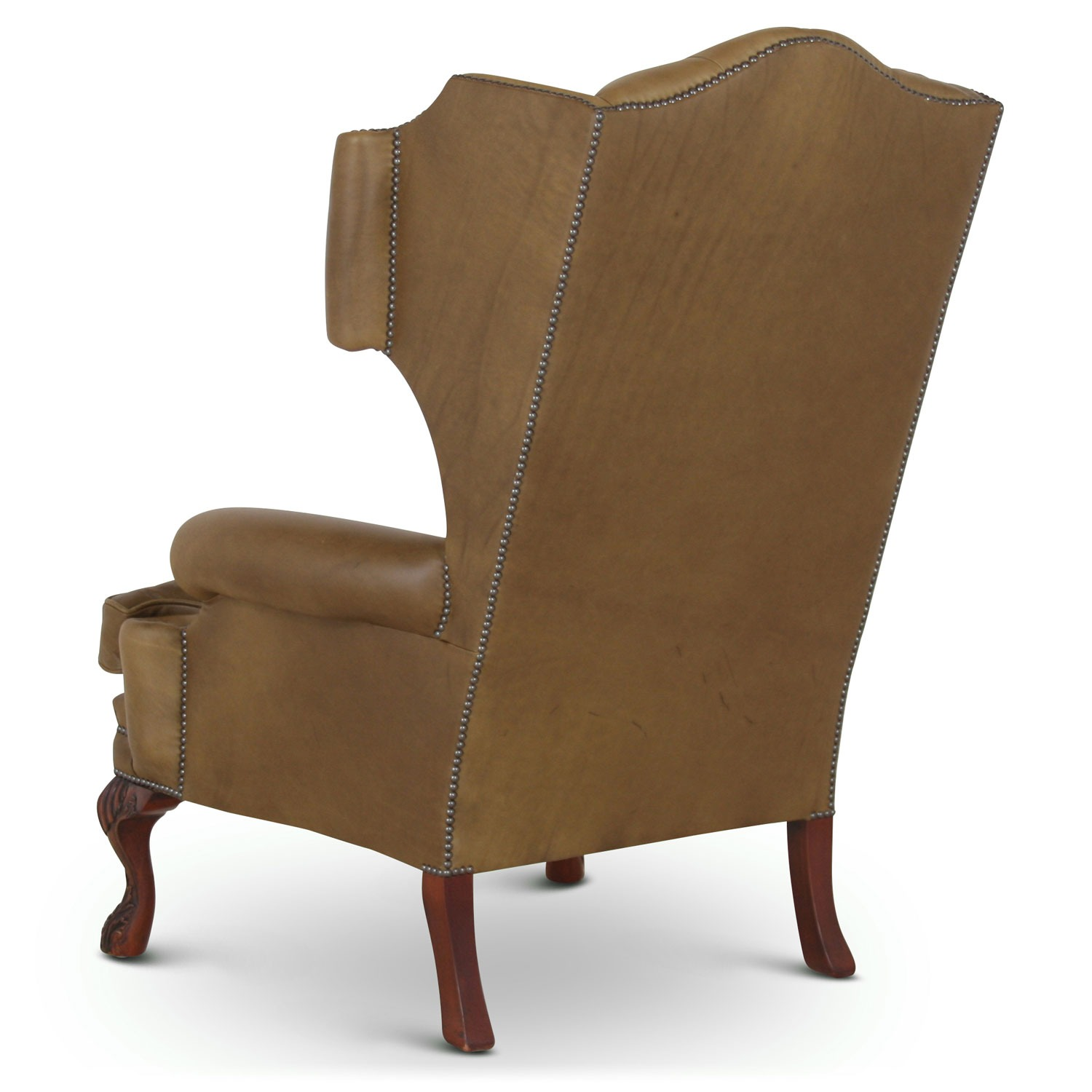 Elizabethan Leather Wing Chair