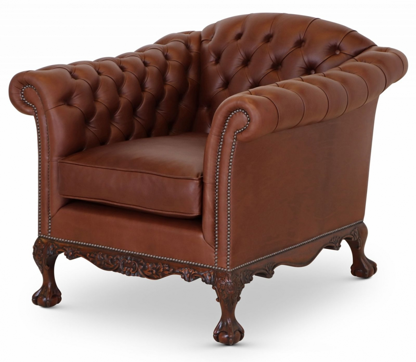 Dryden Howard and Sons style sofa and chair - Chocolate