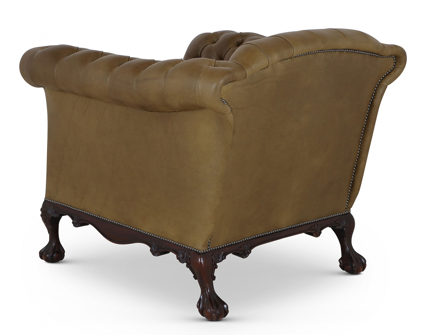 Dryden Howard and Sons style sofa and chair - Olive green