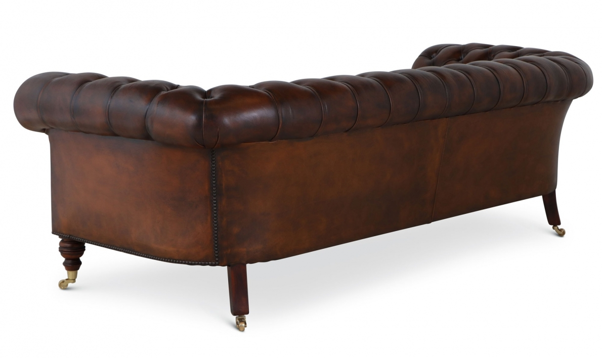 Bolsover 3 seat Chesterfield - hand dyed tan