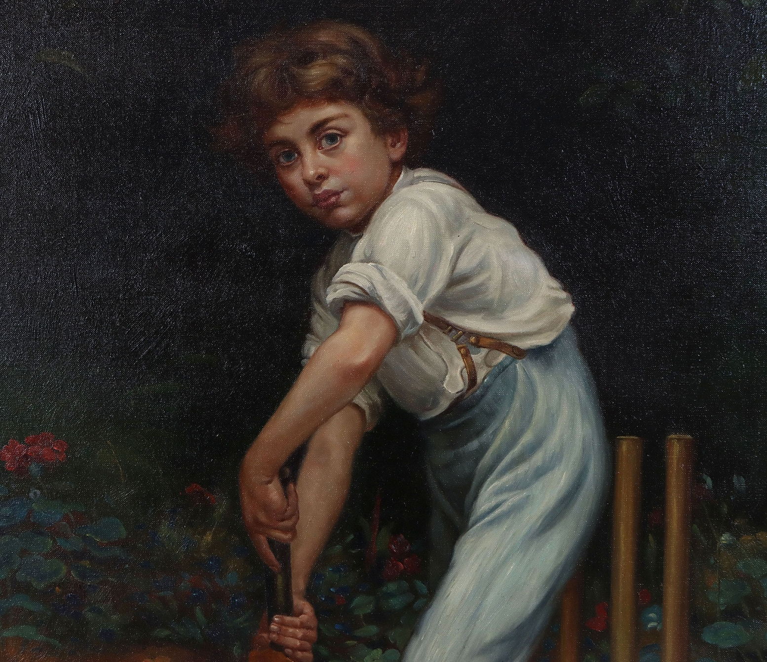 Oil painting after Captain of the Eleven by Philip Hermogenes Calderon