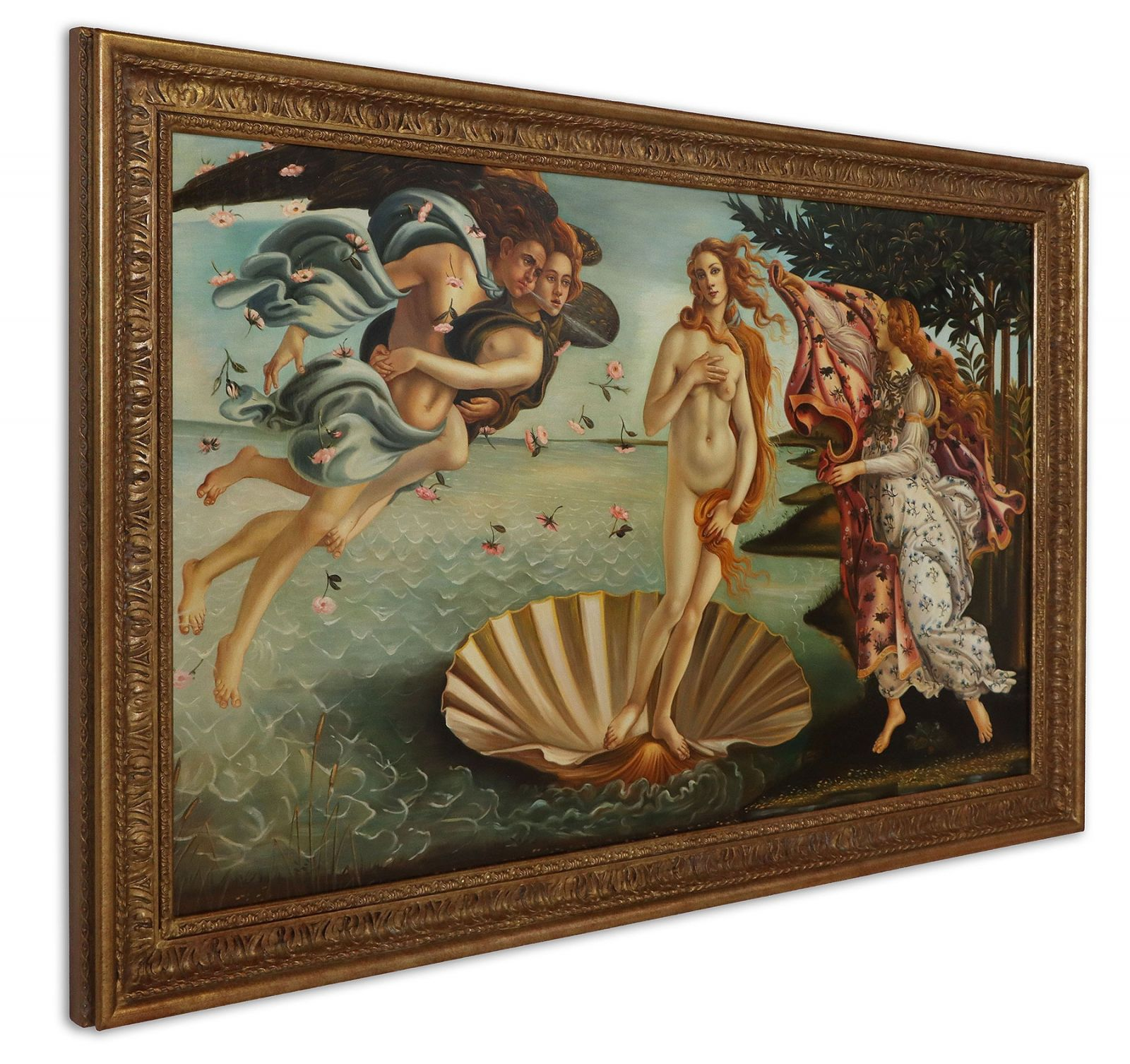 Oil painting after The Birth Of Venus by Sandro Botticelli