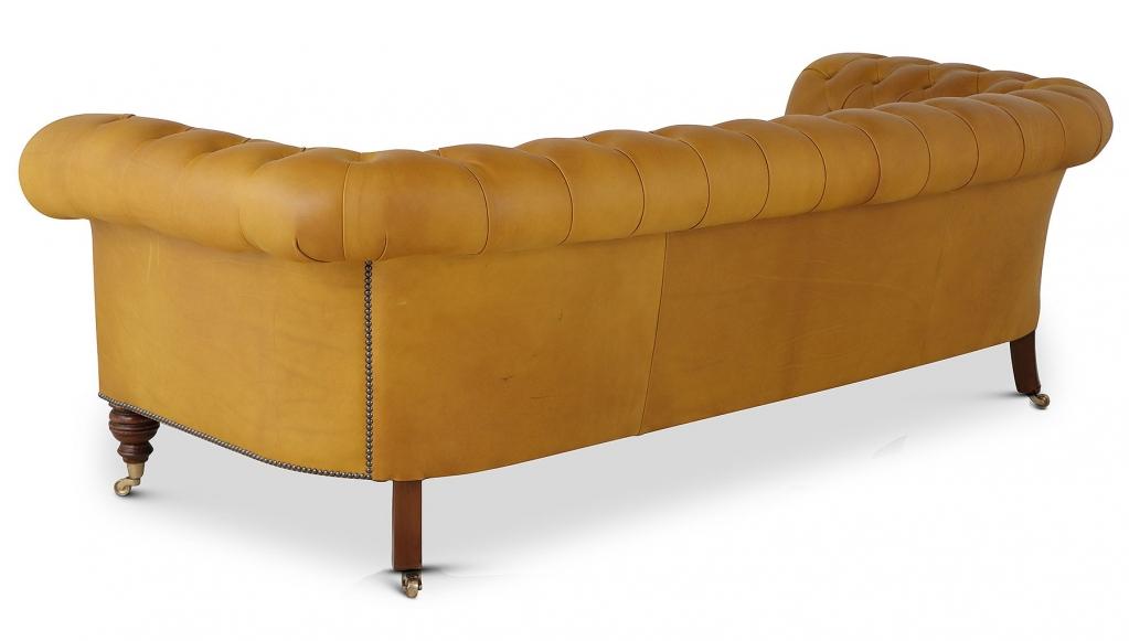 Bolsover 3 seat Chesterfield in golden hide