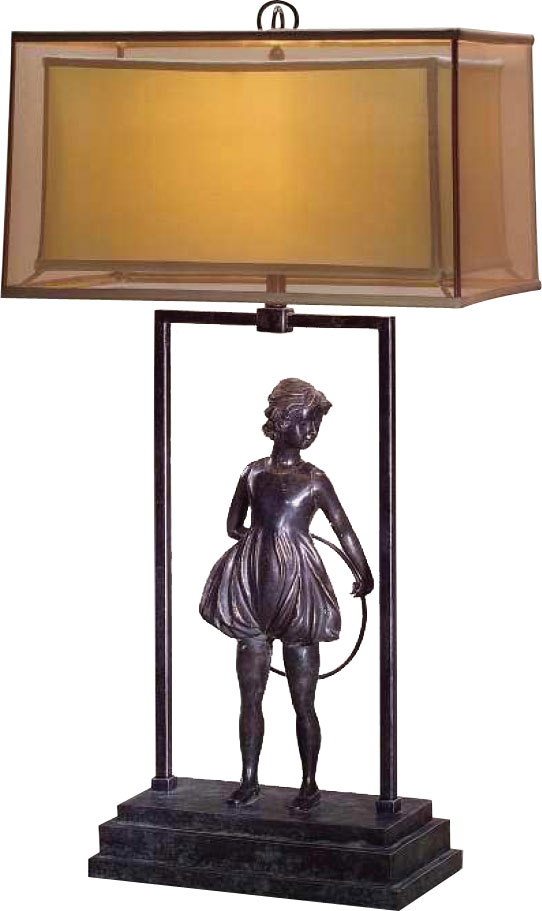 Art Deco style brass table lamp